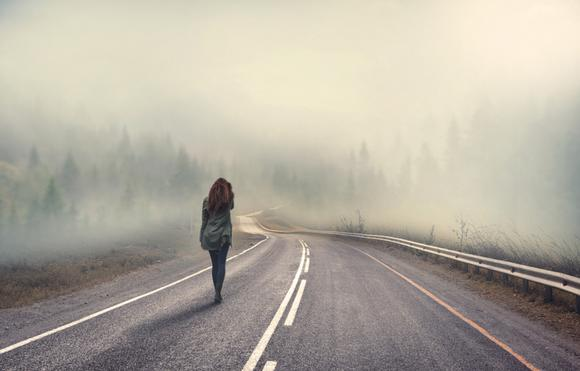 Counsellor in Wonersh and Guildford, psychotherapist. depression, anxiety, talking therapy. Foggy road.